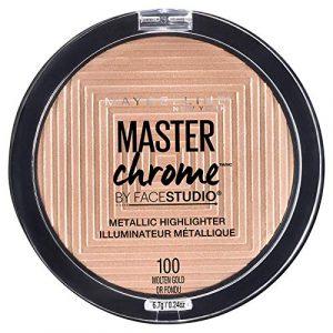 MAYBELLINE FaceStudio Master Chrome Metallic Highlighter – Molten Gold Or Fondu