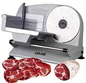 DMS® Metall Allesschneider Brotschneidermaschine Wurstschneider Fleischschneider Universal-Wellenschliffmesser Aufschnittmaschine 400 Watt max. AS-200