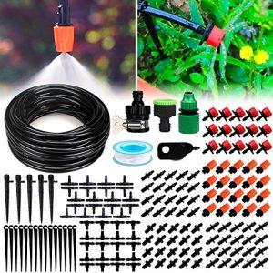 DIY Bewässerungssystem Garten Micro Drip Bewässerung Kit Automatische Bewässerung automatische Sprinkler Tröpfchenbewässerung Gartenbewässerung für Landschaft, Flower Bed, Terrasse Pflanzen