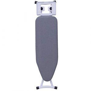 E-starain Bügelbrett Bügeltisch mit Fester Bügeleisenablage höhenverstellbar für Dampfbügeleisen Grau