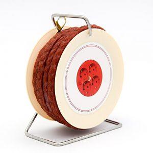 Pikanten Wurst Snack auf Kabeltrommel – 3,5 Meter Wurst nach Krakauer Art auf einer Mini Kabel-Trommel – 240 g