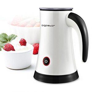 Aigostar Miss Puff 30KDF-Automatische Milchaufschäumer, 450Watt, Milk Frother zur Zubereitung von Heiß- und Kaltschaum oder Warmmilch 200ml. EINWEGVERPACKUNG.