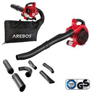 Arebos Benzin Laubsauger | 700 W | inkl. 45 L Auffangsack | mit Saug- und Blasfunktion | massive Häckselkralle 7500 U/min