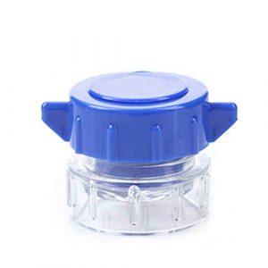 SUPVOX Tablettenzerkleinerer mit Kunststoffbehälter Multifunktion tragbar (Blau)