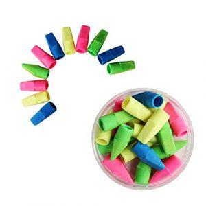 Xiton 100 Stück Bleistift-Radiergummis Bleistift Top Radierer Cap Radierer Radiergummi Tops Radiergummi Mulcher Schule Radiergummis für Kinder Schulmaterial für Lehrer