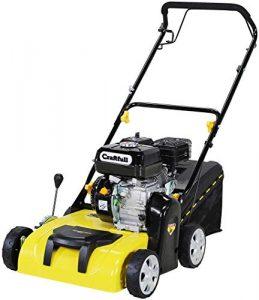 Craftfull 2in1 Vertikutierer & Rasenlüfter Benzin 196 cc 4-Takt Motor – Easy-Pullstart – Variable Schnitthöhe – Seilzugstarter