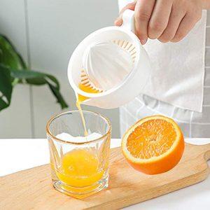 yongqxxkj Handmixer für die Zitruspresse für die Zitruspresse von Frutta, weiß