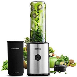 Willsence Mixer Smoothie Maker, 23000 U/min High Power Mini Standmixer, 10s High Speed mit Tritan 570ML BPA-Freier Reiseflasche und 4 Edelstahlklingen für Obst und Smoothie, 300W