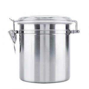 Kaffeebehälter Premium Edelstahl Kaffeedose Vakuum luftdicht Vorratsglas für Zuckerteebohne(1400ml)