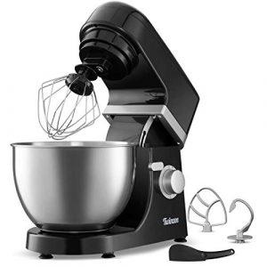 Multifunktions Küchenmaschine | 1000W | 6 Rührstufen | 4 Zubehörteile Inbegriffen – H-Rührbesen – Schneebesen – Knethaken – Elektrische Rührmaschine | Rezepte