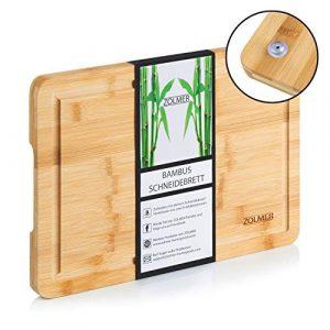 ZOLMER® Schneidebrett aus Bambusholz – 33 x 24 x 2 cm – Hochwertiges Cutting Board – Praktisches und stabiles Küchenbrett – Chopping Boards