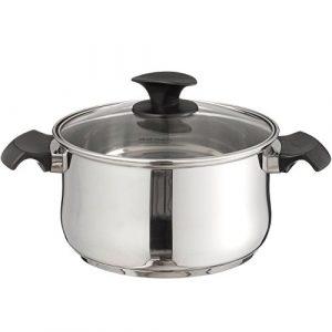 Steinbach Baliora Meat Pot | Kochtopf | inkl. Deckel | Edelstahl | für alle Herdarten + Induktion (Ø 16 cm – Bratentopf)