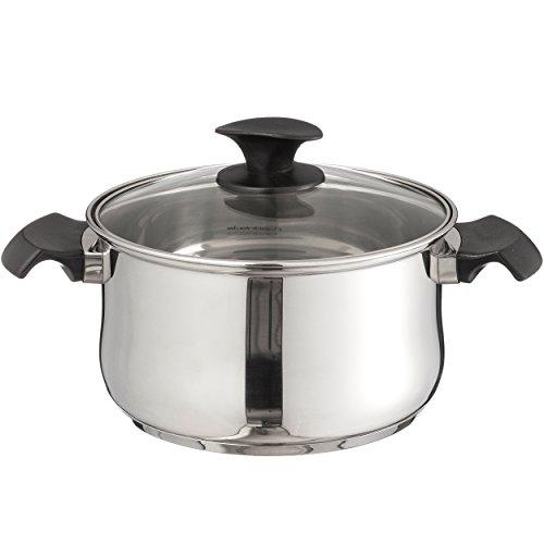 Steinbach Baliora Meat Pot | Kochtopf | inkl. Deckel | Edelstahl | für alle Herdarten + Induktion (Ø 16 cm - Bratentopf)